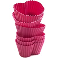 意大利Silikomart彩酷系列 心型蛋糕模具 6支装 粉色(原装进口烘焙模具)
