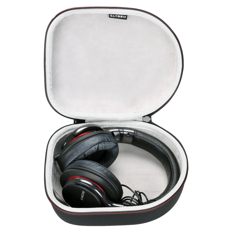 LTGEM Hard Headphone Case Travel Bag for Sony, Audio-Technica, Xo Vision, Behringer, Beats, Photive, Philips, Bose, Maxell, Panasonic and More-Black