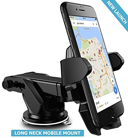 Unifree Universal Silicone Sucker Car Mobile Holder/Car Mount Long ...