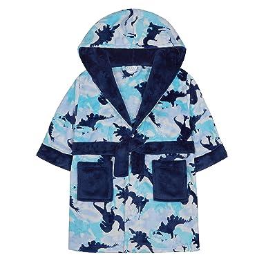 Amazon.com: MiniKidz Boys Dinosaur Camo Soft Fleece Dressing Gown ...