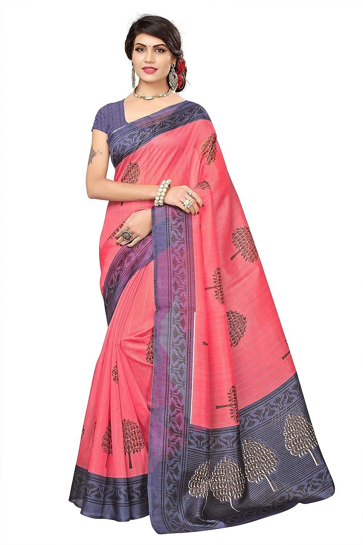 20b17c77e3a37 Fabwomen Women s Cotton Silk Saree with Blouse Piece