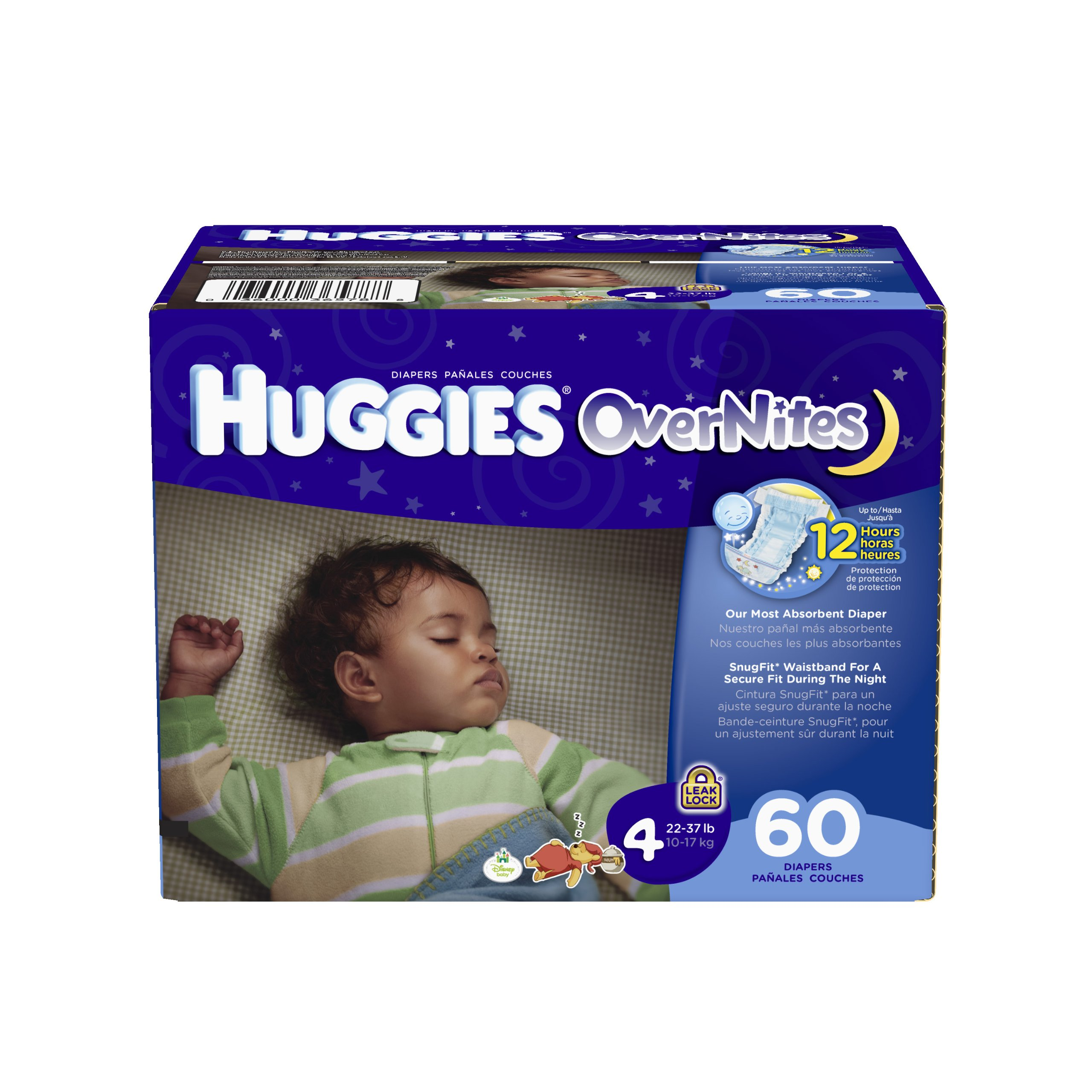 Huggies OverNites Diapers, Size 4, Big Pack, 60 Count by HUGGIES