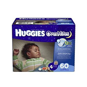 Amazon.com: Huggies OverNites Diapers, Size 4, Big Pack, 60 Count ...