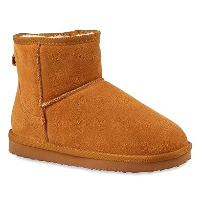 Damen Stiefeletten Leder Schlupfstiefel Boots Kostüm Skostüm Indianer Fransen Squaw Pocahontas Schuhe 109645 Hellbraun 36 Flandell sfCh8i72