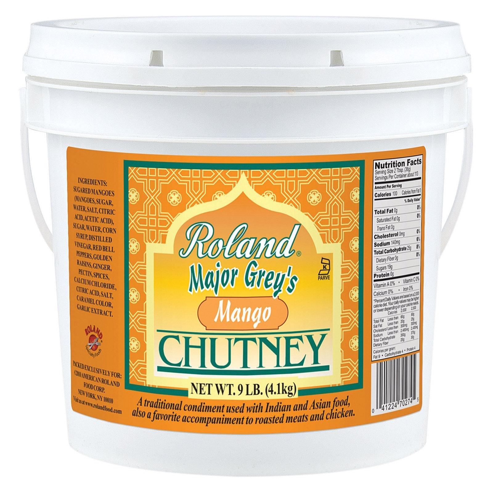 Roland: Major Grey's Mango Chutney 1 Gal (4 Pack) by Roland