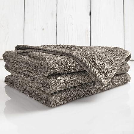 Lumaland Premium Set 4 Toalla de Manos (50 x 100 cm) + 2 Toallas de baño (70 x 140 cm) Suave 100% algodón 500 g/m² con Cinta Camel: Amazon.es: Hogar
