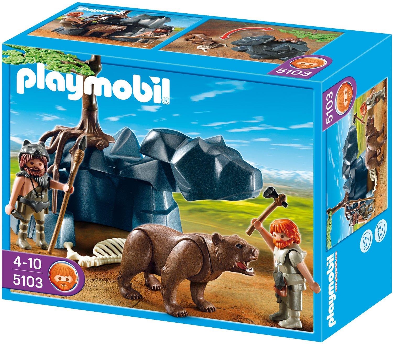 Playmobil 5103 - Hö hlenbä r mit Hö hlenmenschen Aufstellspielzeug / Grundmodelle Aufstellspielzeug aus Kunststoff / Grundmodelle