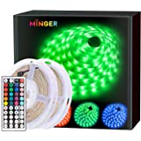 MINGER LED Strip Lights , 32.8ft RGB Light Strip with Remote, Controller Box and Clips for Room, Bedroom, Home, Kitchen Cabin