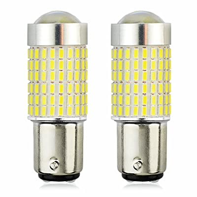 JDM ASTAR 1200 Lumens Extremely Bright 144-EX Chipsets 1156 1141 1073 7506 LED Bulbs with Projector For Backup Reverse Lights, Xenon White: Automotive