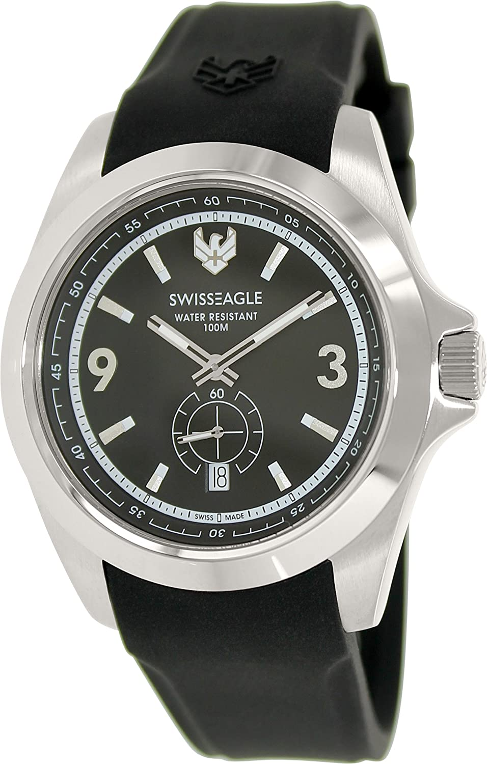 Swiss Eagle SE-9064-01 Harrenarmbanduhr