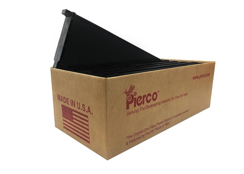 Pierco Inc 10 pack 6 Medium Plastic Frames DOUBLE Waxed Black
