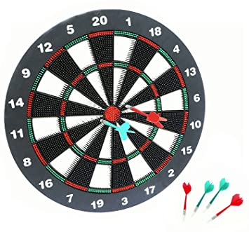 Superior AOQING 16 Inches Safety Dart Board With Soft Safety Darts   Great Games For  Kids Relax