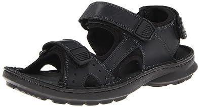 Swing Away Men Open Toe Leather Sport Sandal
