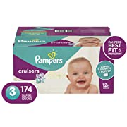 Pampers Cruisers Disposable Baby Diapers, Size 3,174 Count, ONE MONTH SUPPLY