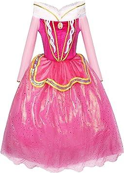 Katara 1742 - Disfraz de Princesa Aurora para Niñas, Rosa, talla ...