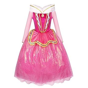 Katara 1742 - Disfraz de Princesa Aurora La Bella Durmiente Vestido Elegante - Niñas de 4