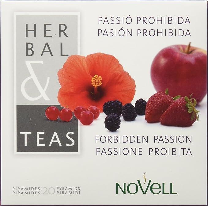 Cafes Novell Infusión de Frutos Rojos - 20 x 2, total 40 Pirámides