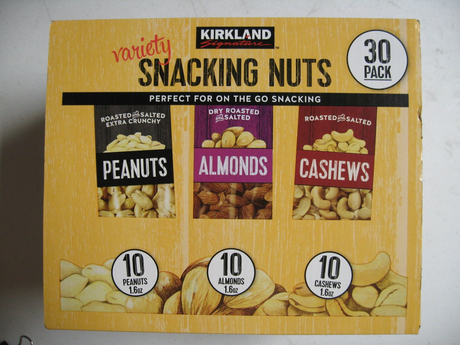 Signature Snacking Nuts 30 Pack (One Pack 1.6 Oz) Box