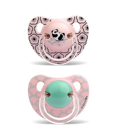 Suavinex Chupete Physio Panda/Rama 2 piezas: Amazon.es: Bebé