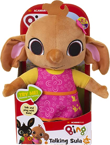 36Cm Bing Light Up Talking Soft Toy With Hoppity