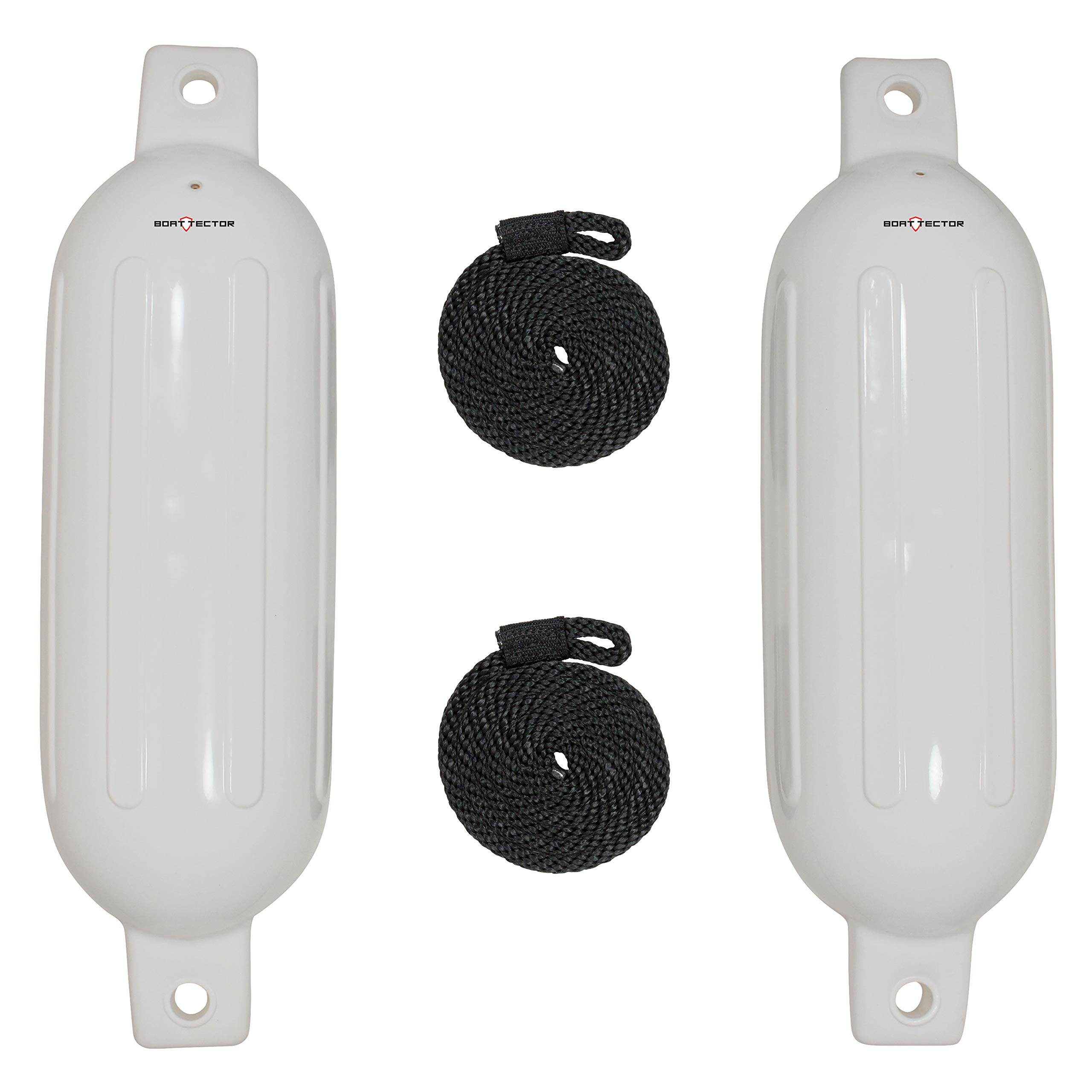 Extreme Max 3006.7201 BoatTector Fender Value 2-Pack - 6'' x 22'', White by Extreme Max