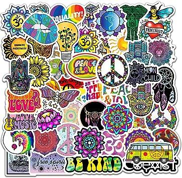 Peace Love Hippie Stickers