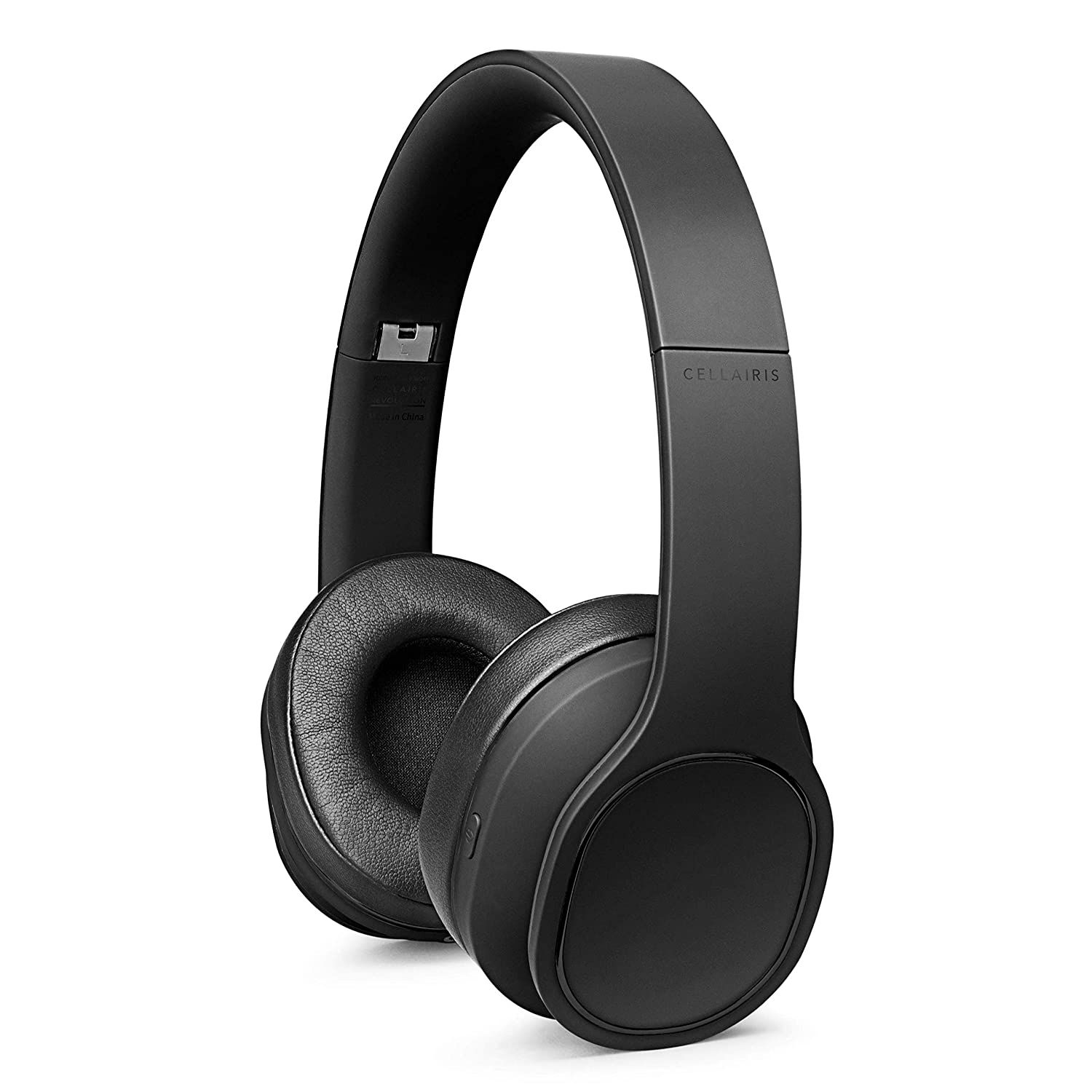 Active Noise Cancelling Headphones, Bluetooth Capable with Mic, Deep Bass & for Over Ear, for Travel Work TV PC Cellphone, Black, Ultra Soft Ear Cushions, Soundproof by Cellairis