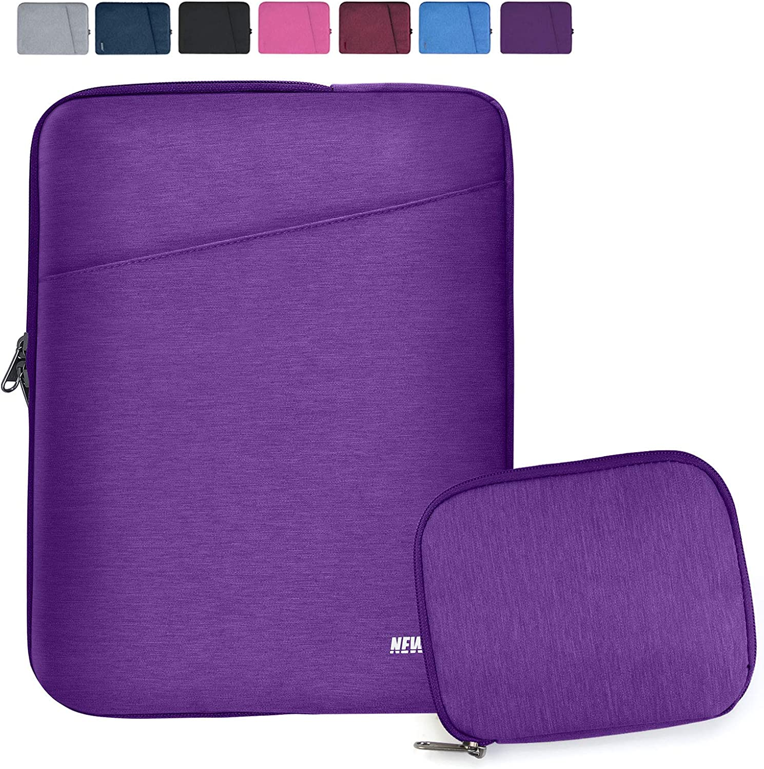 """NEWHEY Laptop Sleeve 13.3-14 Inch Computer Bag Multi-Color Choices Case, Water-Resistant Notebook Pocket Tablet Briefcase Carrying Bag with A Case,Compatible with 13""""MacBook Pro and Macbook Air,Purple"""