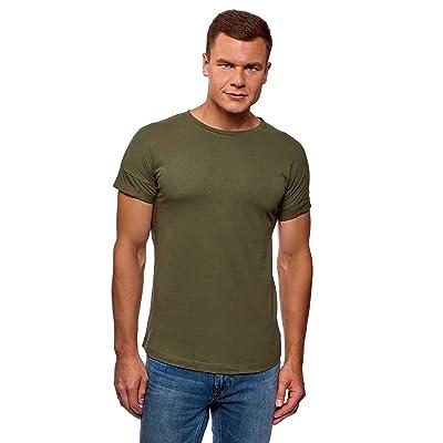 oodji Ultra Men's Long Back Cotton T-Shirt | .com