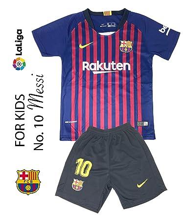 fbcebefb3ad Amazon.com   The Soccer Jersey and Short for Kids on Season 2019 - Best  Soccer KIT for Kids - Juventus Ronaldo 7 - Barcelona FC 10 Messi - Real  Madrid 10 ...