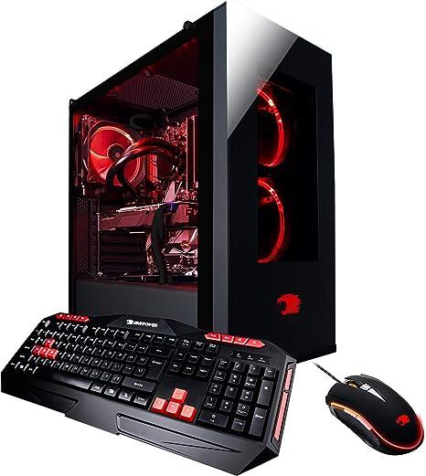 Intel Core i7-9700K iBUYPOWER 1TB HDD NVIDIA GeForce RTX 2080 Super 480GB SSD 16GB Memory Windows 10- Black Gaming Desktop