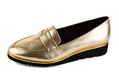 Gerry Weber Damen Komfort Slipper Gold