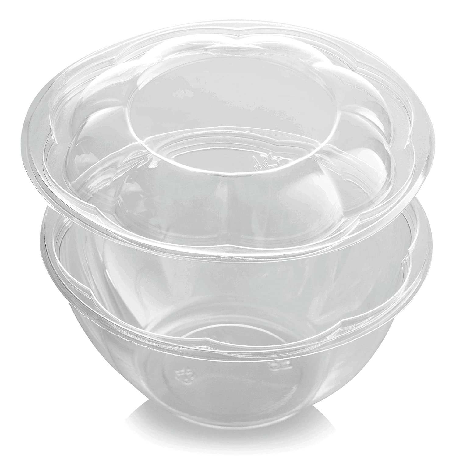 Food Storage Containers Mixing Bowl Glass Red Airtight Lids 24oz Lunch Set of 4