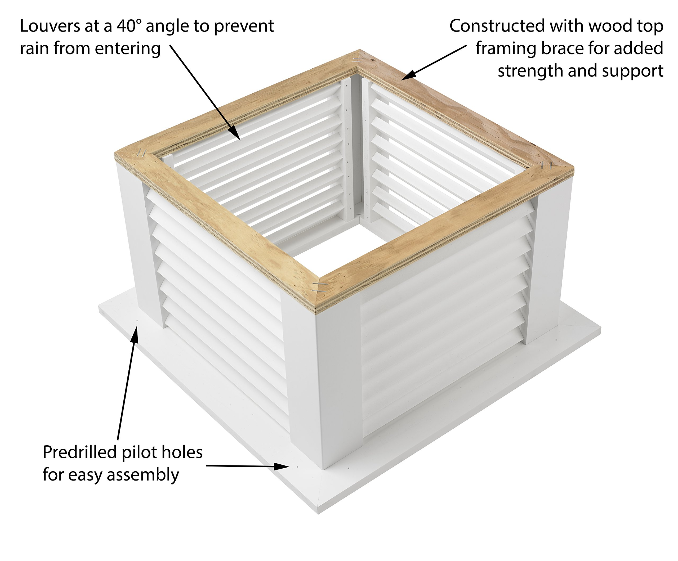 "Manchester Vinyl Cupola, Perfect Size for a Shed, 22"" square x 27"" high, Pure Copper Roof, Quick Ship by Good Directions (Image #3)"