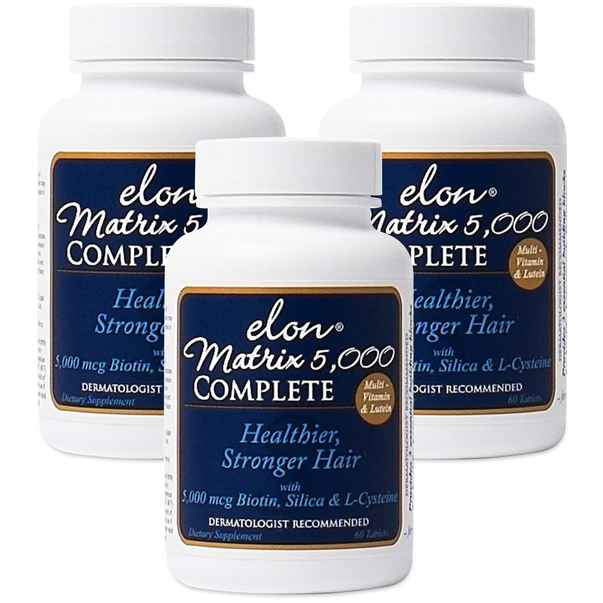 Elon Matrix 5,000 Complete Multi-Vitamin for Hair - 3 Pack