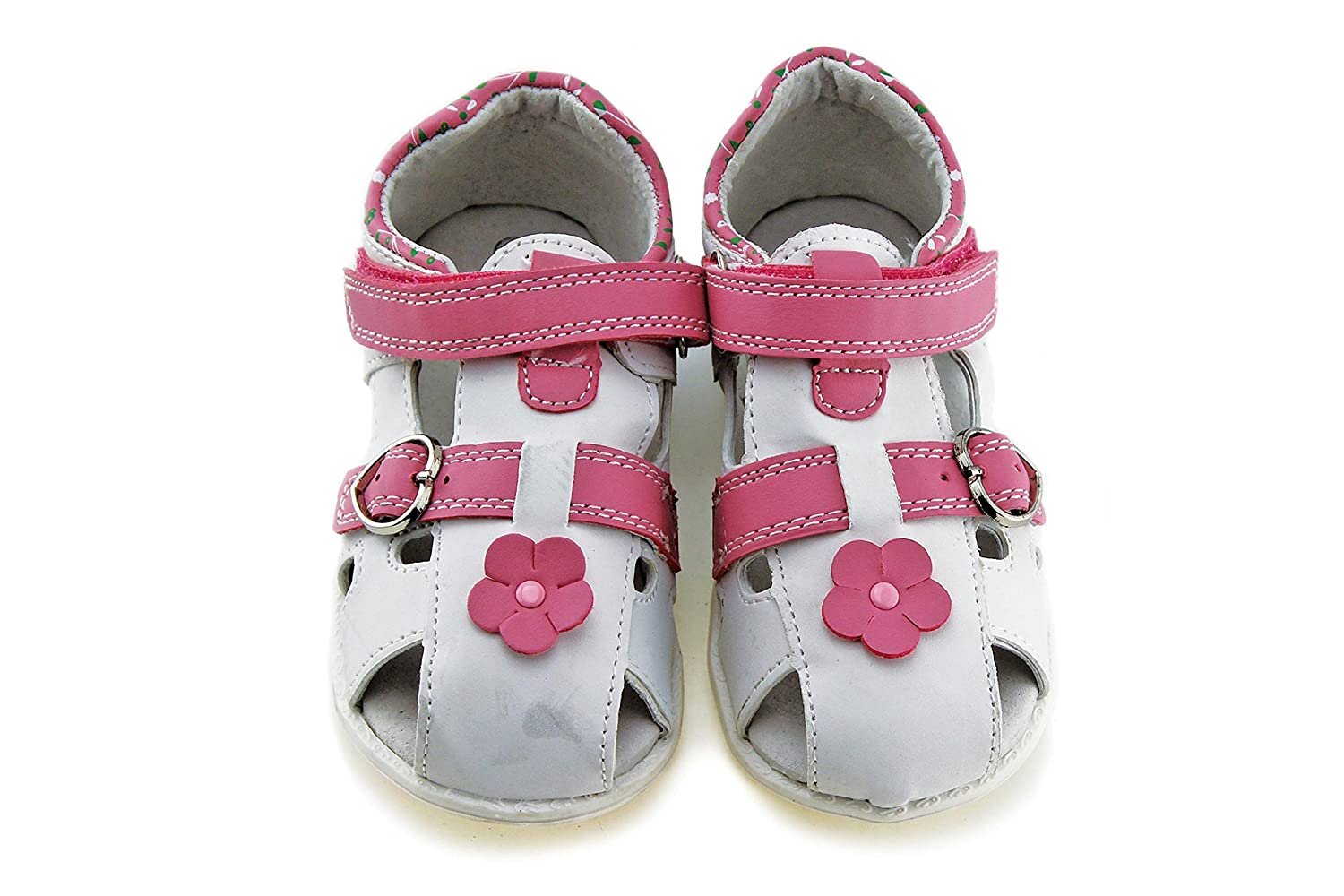 Toddler//Little Kid Jabasic Kids Summer Outdoor Sandals Boys Girls Closed-Toe Leather Lined Strap Beach Shoes