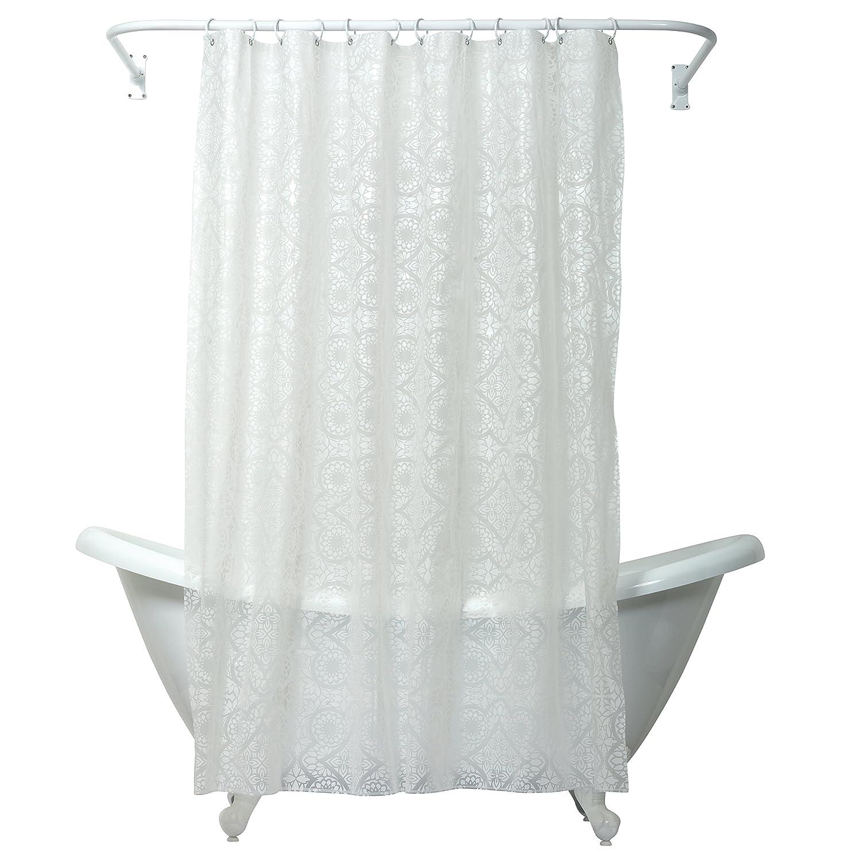 Amazon.com: Zenna Home, India Ink Morocco Peva Shower Curtain Liner, White:  Home U0026 Kitchen