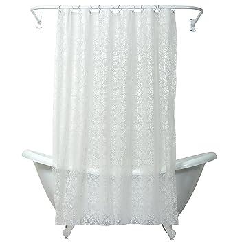 Amazon.com: Zenna Home, India Ink Morocco Peva Shower Curtain ...