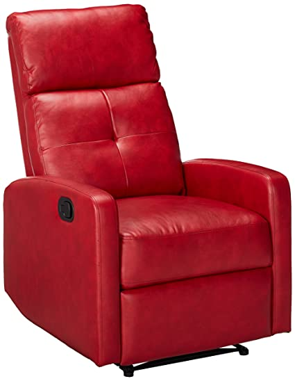 Great Deal Furniture 296603 Teyana Red Leather Recliner Club Chair