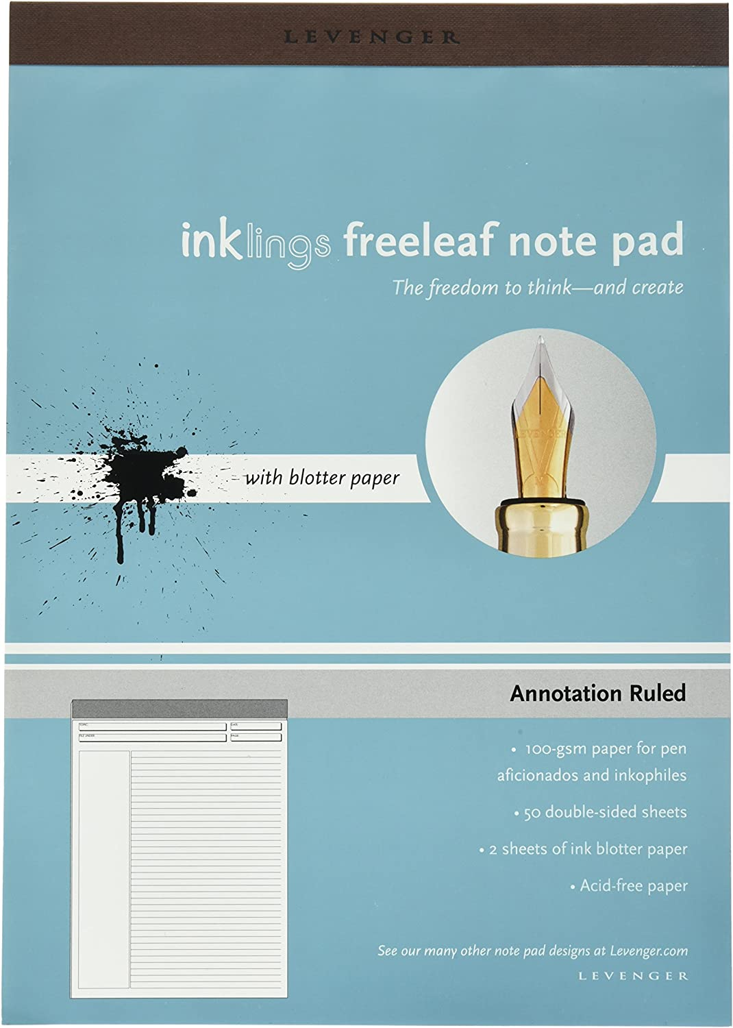 Levenger Freeleaf Yellow Annotation Ruled Pads Junior 5