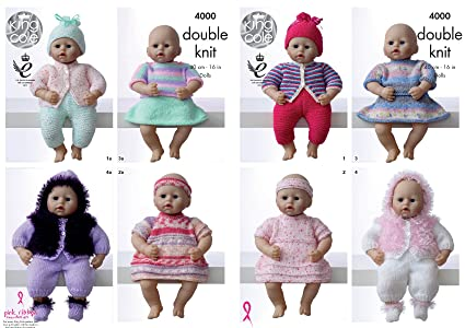 b86109af8 King Cole Dolls Clothes Knitting Pattern 4000