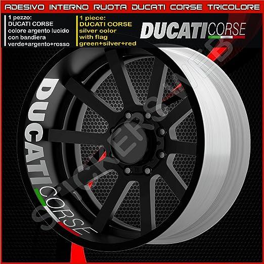 Adhesivos para llantas de motocicleta, marca Ducati Monster Multistrada Hypermotard, parte interior de la