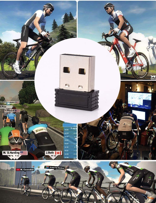 Zwift Bkool Sunnto TacX CooSpo USB Ant+ Adaptador de Palo Dongle USB transmisor Receptor Mini Tama/ño para Garmin PerfPRO Studio CycleOps Virtual TrainerRoad