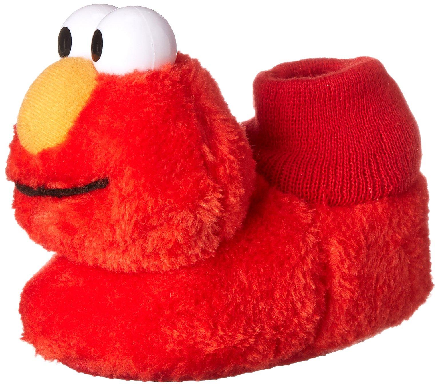 a824fa95f53 Galleon - Sesame Street Elmo Little Kids Sock Top Slippers (5-6 M US Toddler