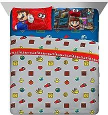 Nintendo Super Mario - Juego de sábanas (4 Unidades)