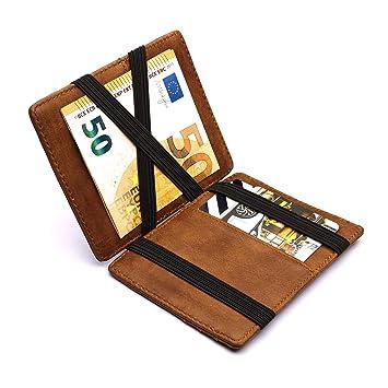 0e1e18e9fd18b Design Magic Wallet Geldbörse mit Münzfach und RFID NFC Schutz – Premium  Portemonnaie mit Magic