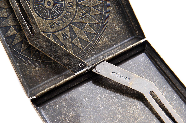 luxuri/ös elegant Mod f/ür 18 Zigaretten DE 518-04 Quantum Abacus Zigarettenetui aus Zinklegierung