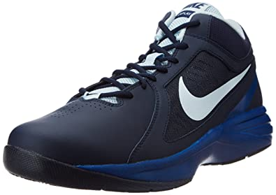 outlet store ef951 62b84 Nike Men s The Overplay VIII Obsidian,Antarctica,Gym Blue Basketball Shoes  -12 UK