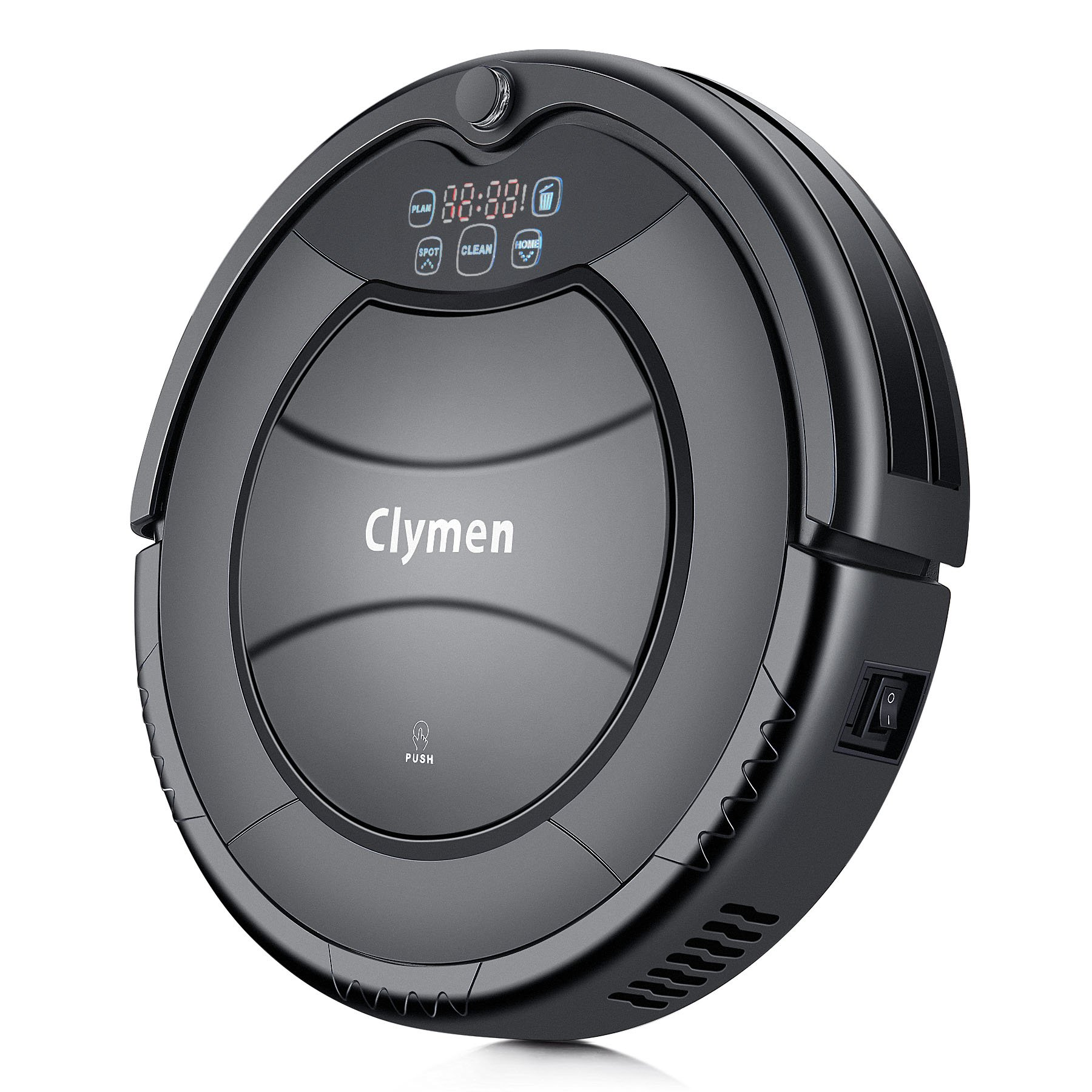 Clymen Q7 Robot Vacuum Cleaner, Self-Charging Robotic Vacuum,Suitable for Tiles and Hard Floors, Quiet, Powerful Suction on Thin Carpet