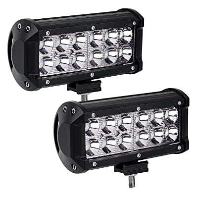LED Light Bar YITAMOTOR 2Pack 36W 7inch Spot Led Light Pod LED Work Light Offroad Light Driving Light Fog Light Boat Light Waterproof for Camper Pickup Truck ATV AWD SUV 4WD 12V, 2 Years Warranty: Automotive